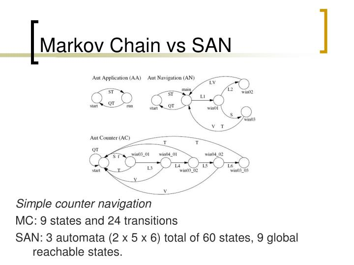 Markov Chain vs SAN
