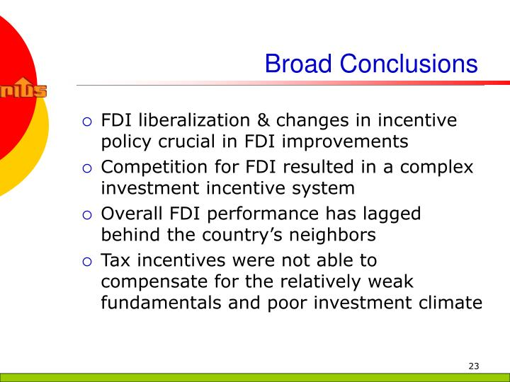 Broad Conclusions