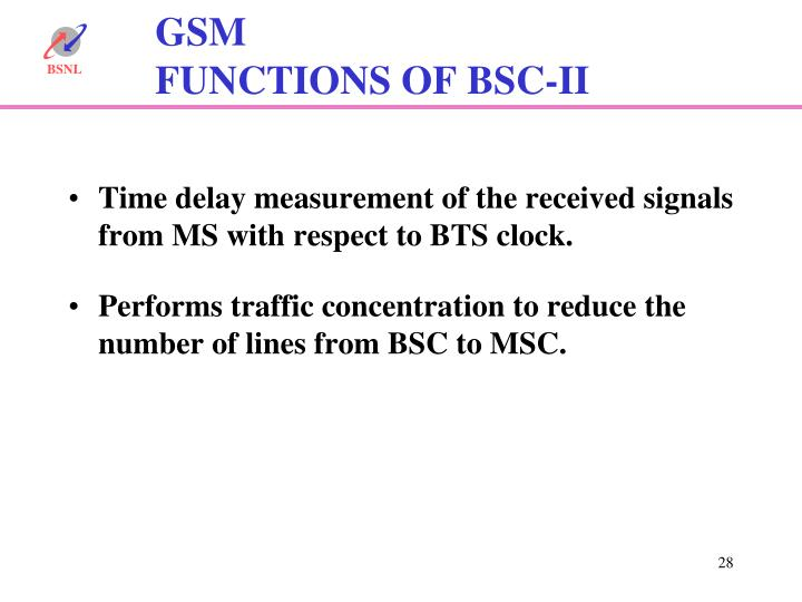 Time delay measurement of the received signals from MS with respect to BTS clock.