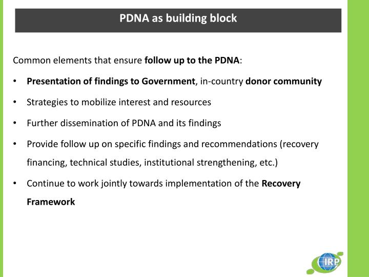 PDNA as building block