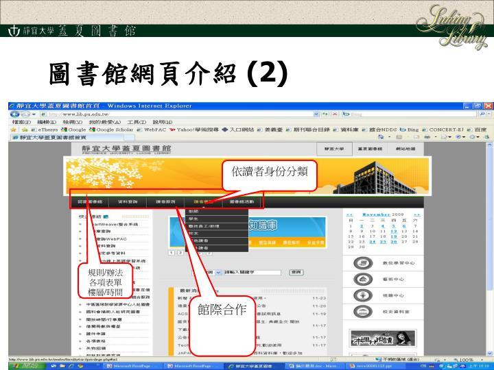圖書館網頁介紹