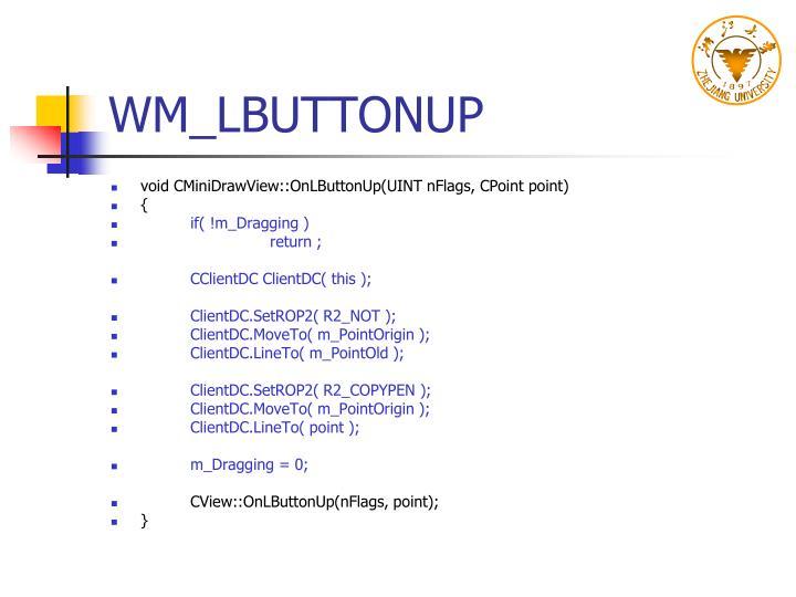 WM_LBUTTONUP