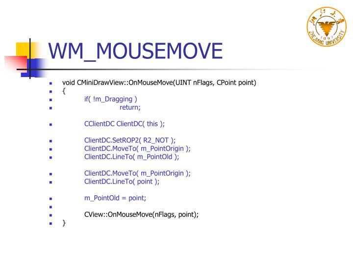WM_MOUSEMOVE