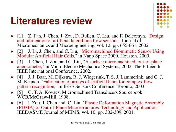 Literatures review