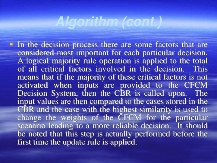 Algorithm (cont.)