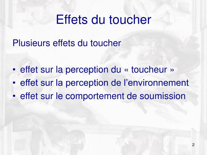 Effets du toucher