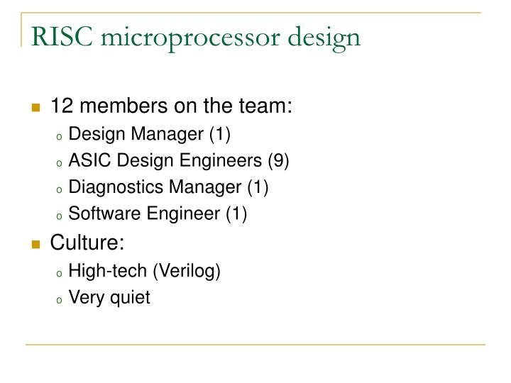 RISC microprocessor design