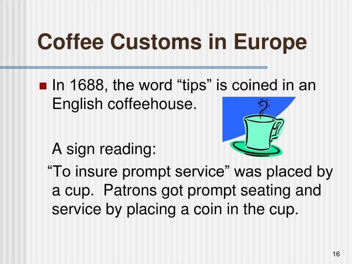 Coffee Customs in Europe