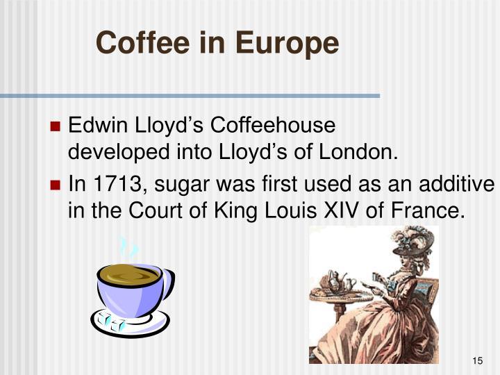 Coffee in Europe