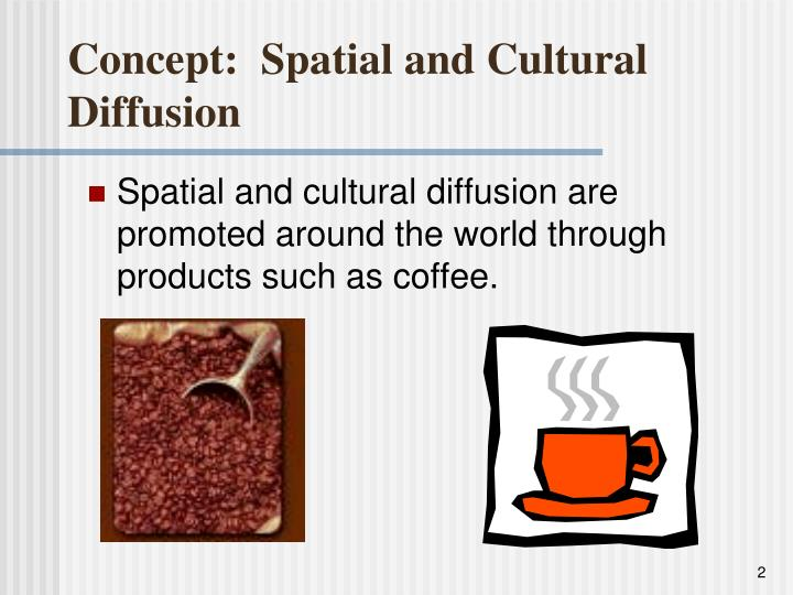 Concept spatial and cultural diffusion