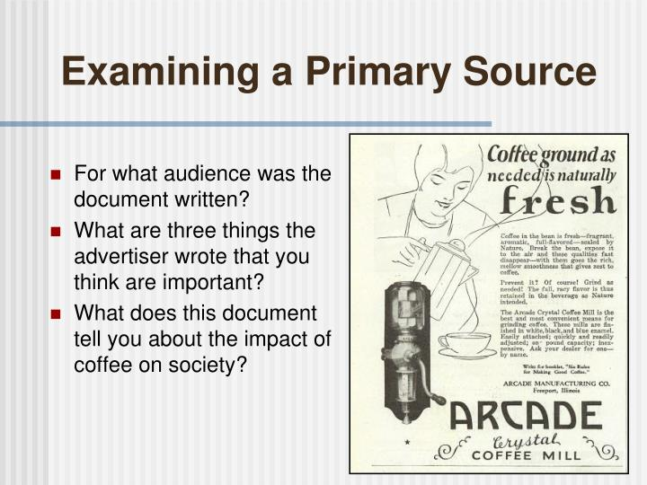 Examining a Primary Source