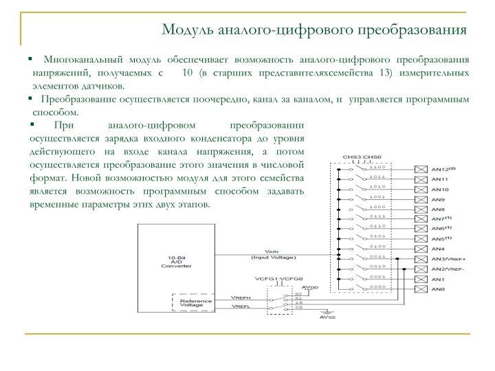 Модуль аналого-цифрового преобразования