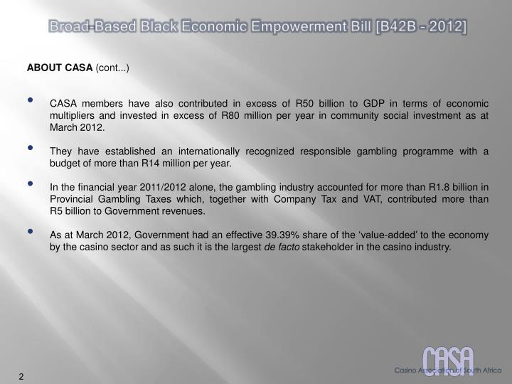 Broad-Based Black Economic Empowerment Bill [