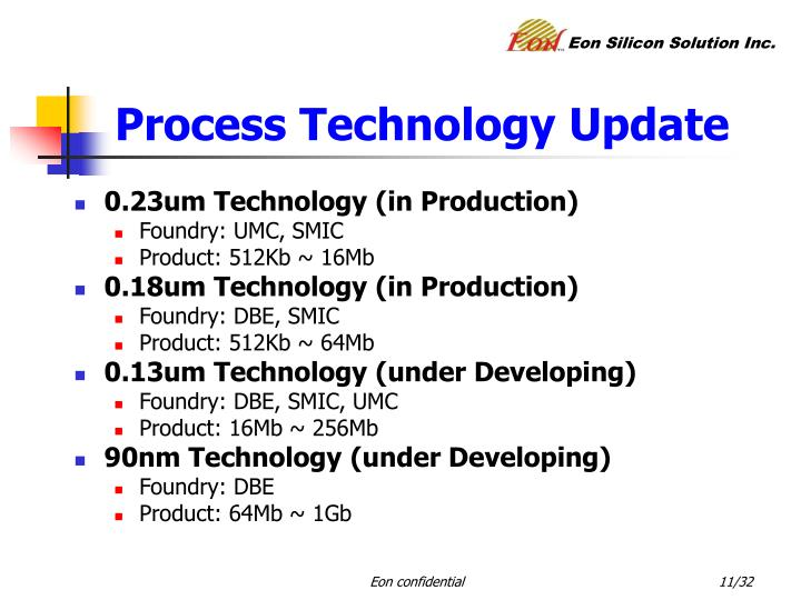 Process Technology Update