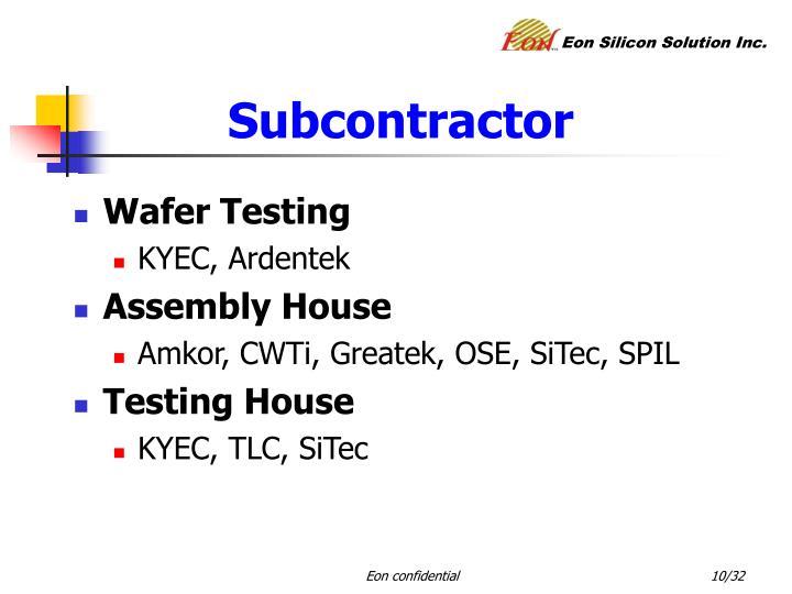 Subcontractor