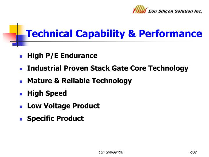 Technical Capability & Performance