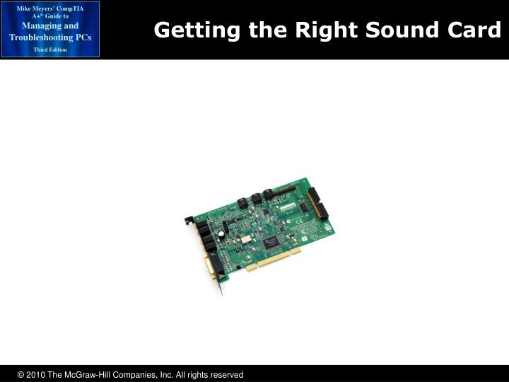 Getting the Right Sound Card