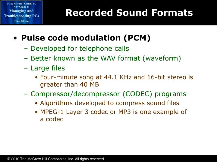 Recorded Sound Formats