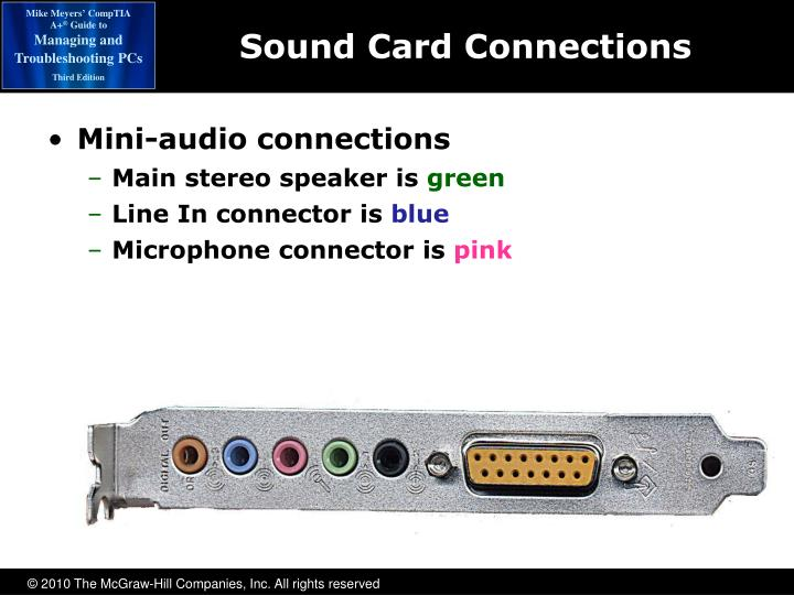 Sound Card Connections
