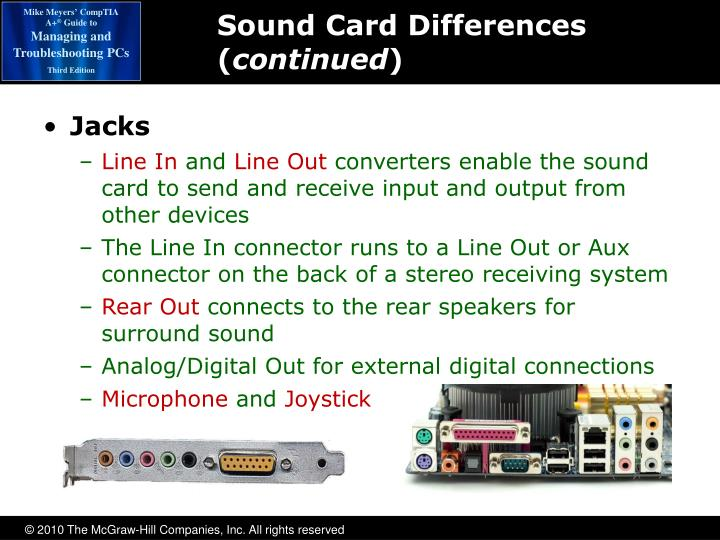 Sound Card Differences (