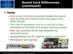 sound card differences continued1