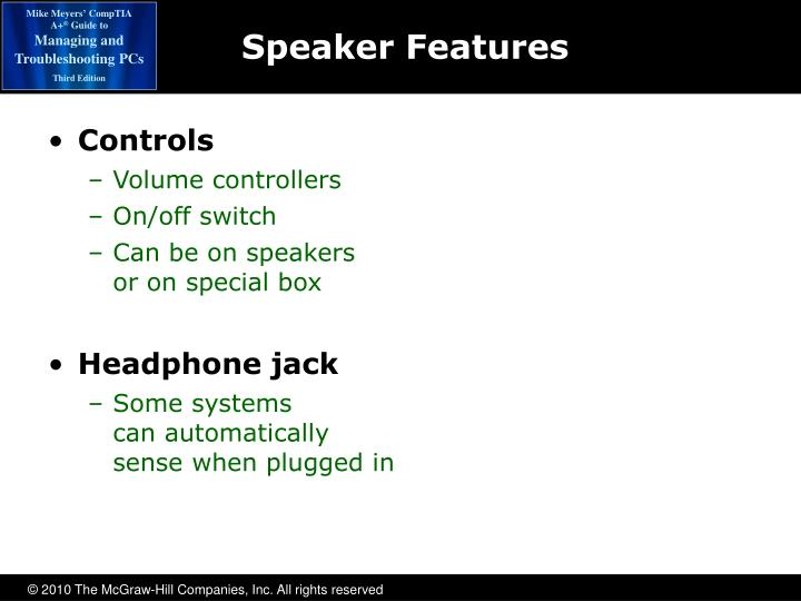 Speaker Features