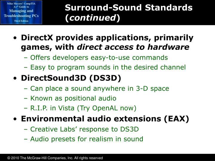 Surround-Sound Standards (