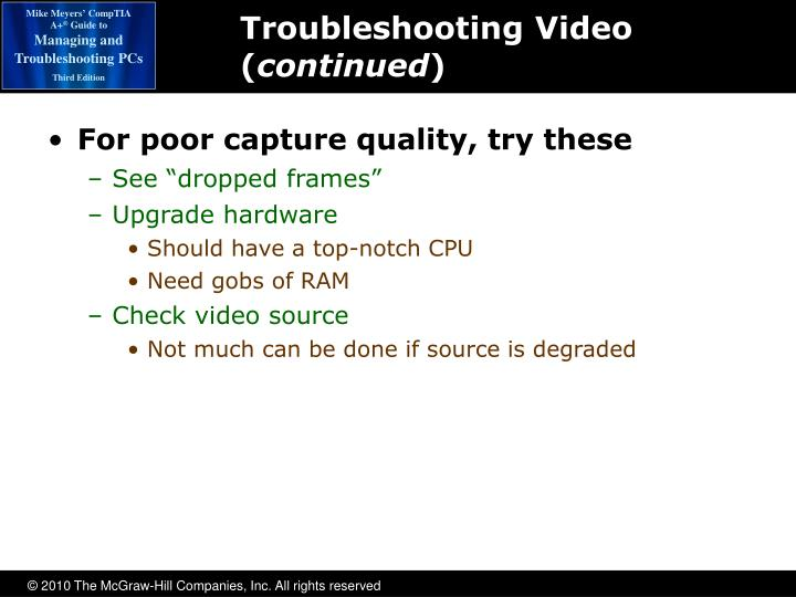 Troubleshooting Video (