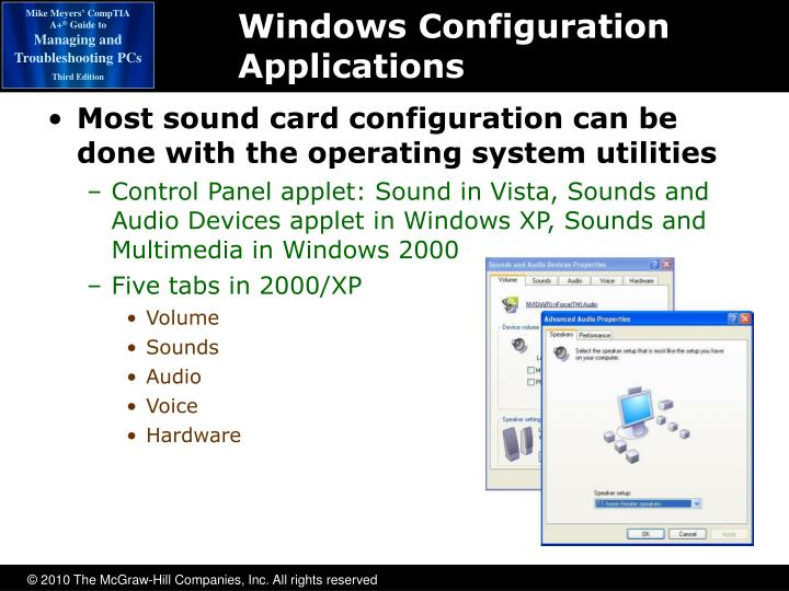 Windows Configuration Applications