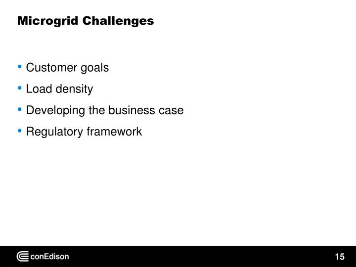 Microgrid Challenges
