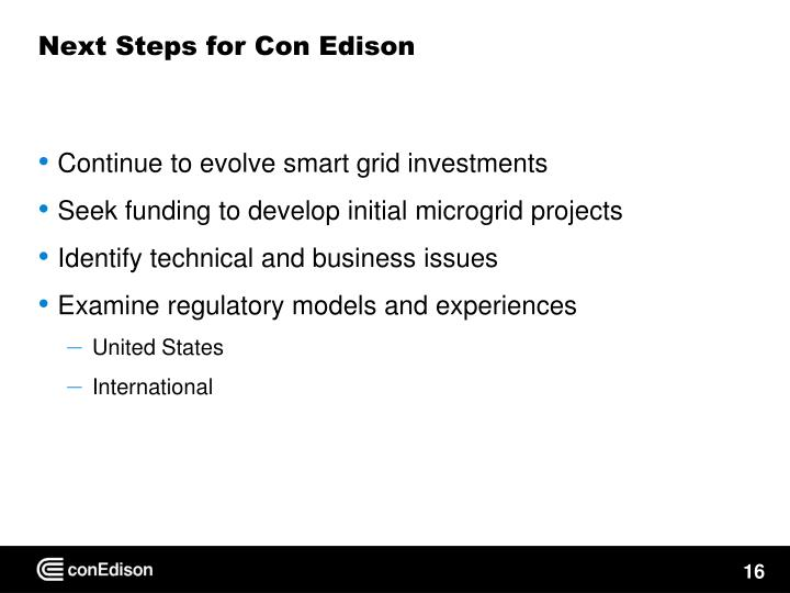 Next Steps for Con Edison