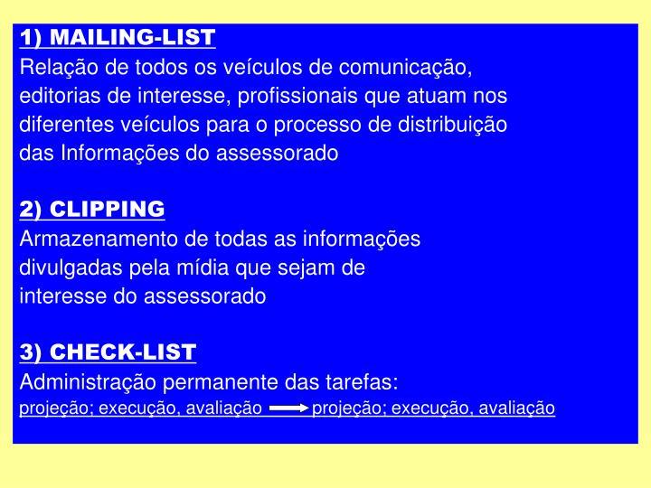 1) MAILING-LIST
