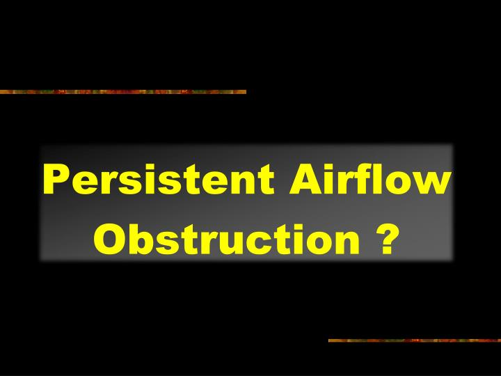 Persistent Airflow