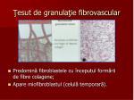 esut de granula ie fibrovascular