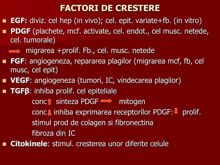 FACTORI DE CRESTERE