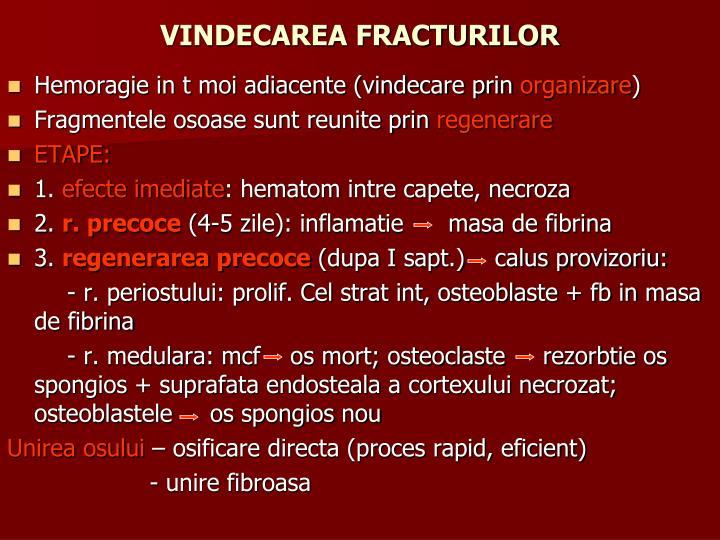 VINDECAREA FRACTURILOR