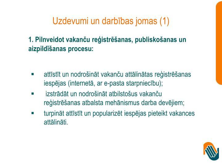 Uzdevumi un darbības jomas (1)
