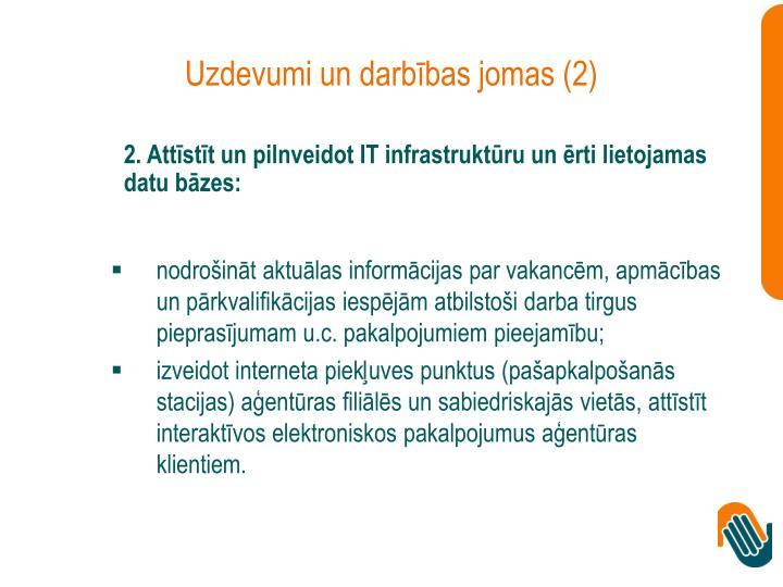 Uzdevumi un darbības jomas (2)