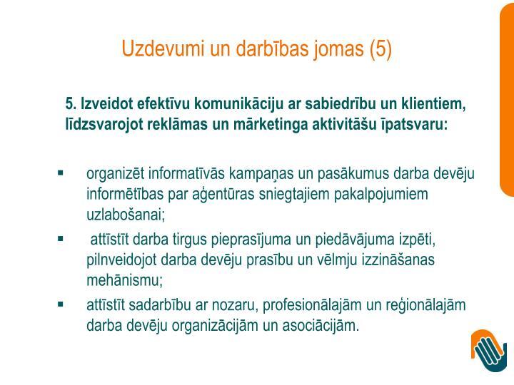 Uzdevumi un darbības jomas (5)