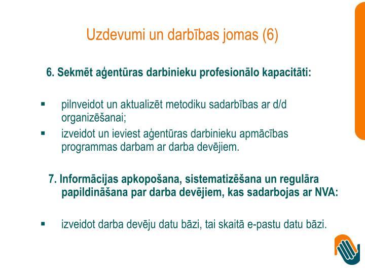 Uzdevumi un darbības jomas (6)