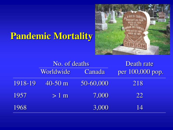 Pandemic Mortality