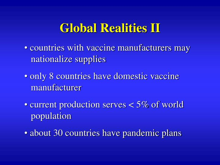 Global Realities II