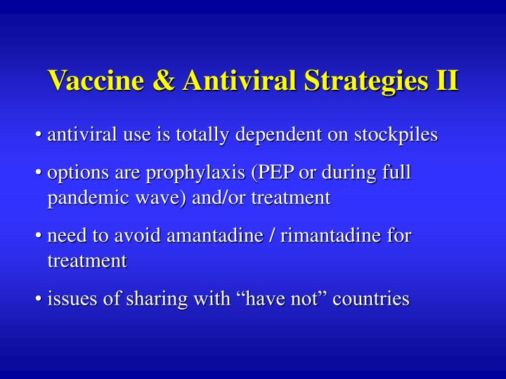 Vaccine & Antiviral Strategies II