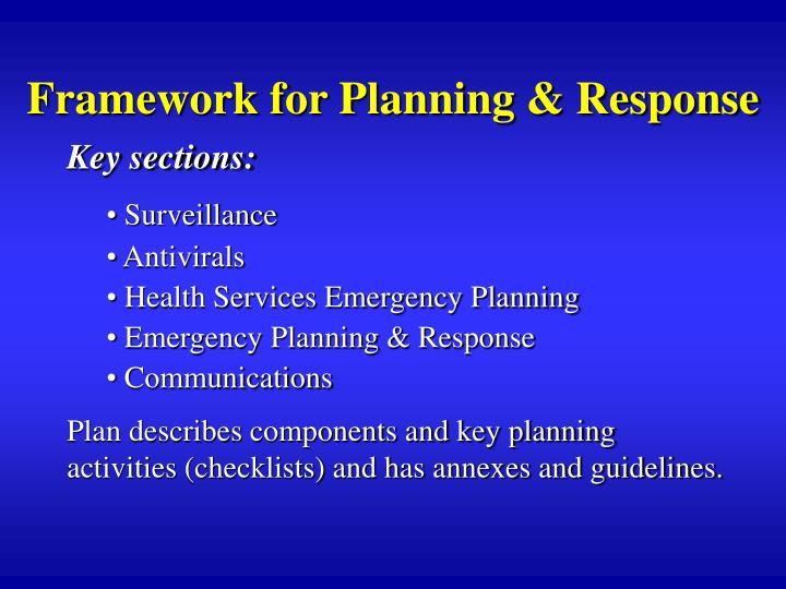 Framework for Planning & Response