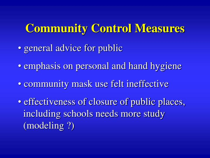 Community Control Measures