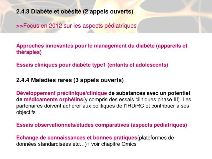 2.4.3 Diabète et obésité (