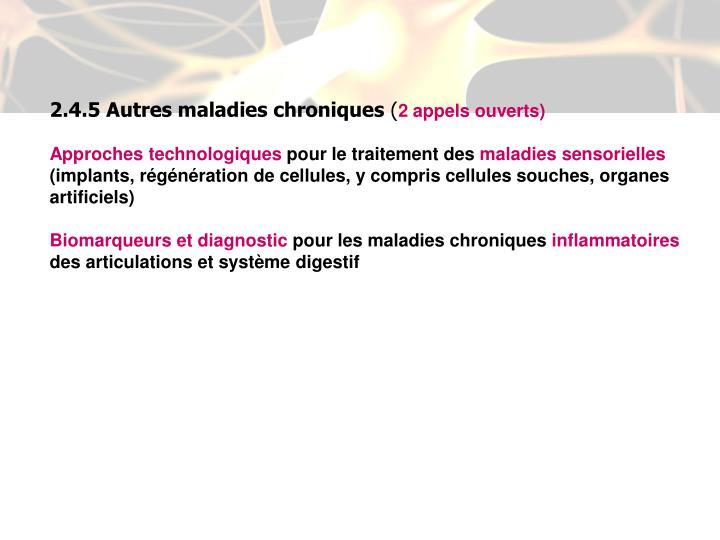 2.4.5 Autres maladies chroniques