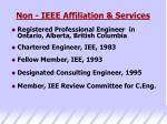 non ieee affiliation services