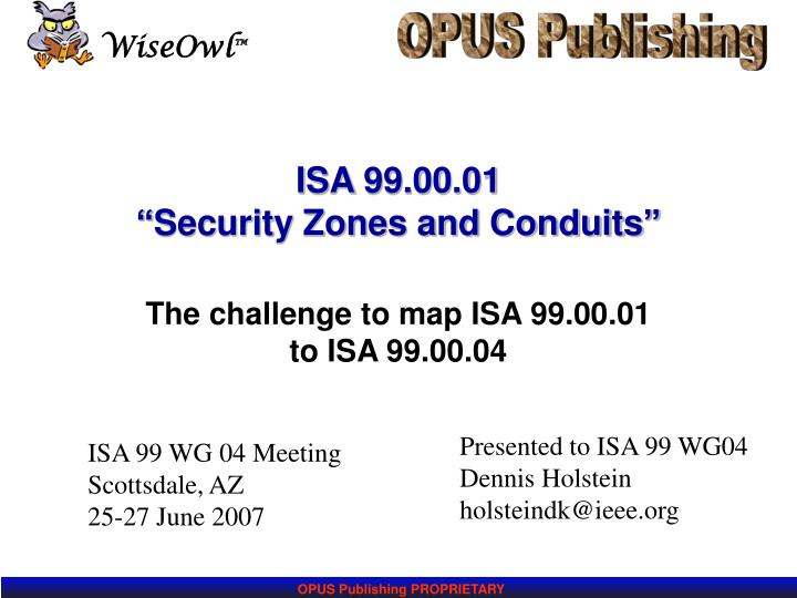 Isa 99 00 01 security zones and conduits
