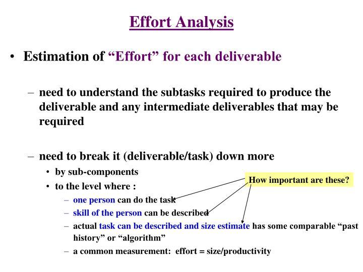 Effort Analysis